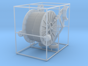 1/50th Cable Reel Spool Trailer in Smooth Fine Detail Plastic