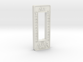 Met Style VU Barmeter Case in White Natural Versatile Plastic
