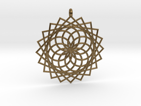 Flower of Life - Pendant 4 in Natural Bronze