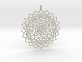 Flower of Life - Pendant 5 in Natural Sandstone