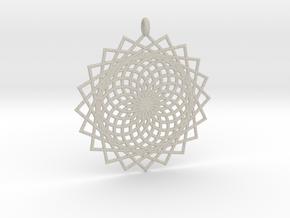Flower of Life - Pendant 6 in Natural Sandstone