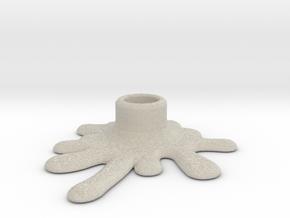 Melted candle holder in Natural Sandstone