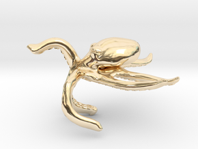 Motivational Octopus Handpet in 14k Gold Plated Brass
