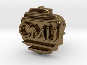 Cufflink Final in Polished Bronze