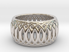 Ring of Rings - 18mm Diam in Rhodium Plated Brass