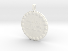 Because Of Your Smile | Jewelry Quote Necklace. in White Processed Versatile Plastic