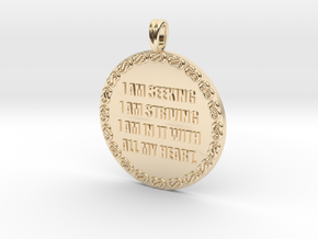 I AM SEEKING I AM STRIVING   Quote Necklace in 14K Yellow Gold