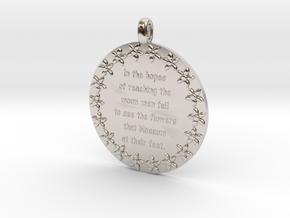 In The Hopes Of Reaching | Jewelry Quote Necklace in Platinum