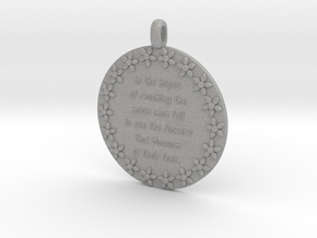 In The Hopes Of Reaching | Jewelry Quote Necklace in Raw Aluminum