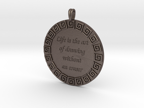 Life Is The Art Of Drawing | Jewelry Quote Pendant in Stainless Steel