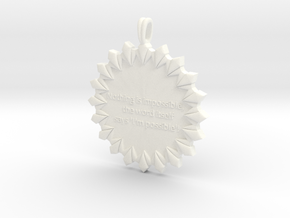 Nothing Is Impossible | Jewelry Quote Necklace. in White Processed Versatile Plastic