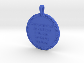 Many People Lose | Jewelry Quote Necklace. in Blue Processed Versatile Plastic