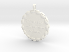 The Earth Has Music | Jewelry Quote Necklace. in White Processed Versatile Plastic