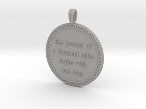 The Journey Of A Thousand | Jewelry Quote Necklace in Aluminum