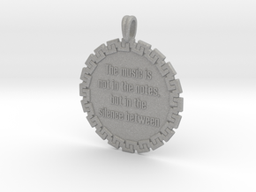 The Music Is Not In The | Jewelry Quote Necklace in Aluminum