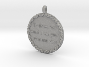 To Draw, You Must Close | Jewelry Quote Necklace. in Aluminum