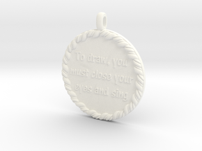 To Draw, You Must Close | Jewelry Quote Necklace. in White Processed Versatile Plastic