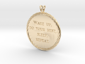 Wake Up | Jewelry Quote Necklace. in 14k Gold Plated Brass
