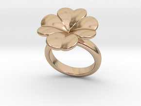 Lucky Ring 14 - Italian Size 14 in 14k Rose Gold Plated Brass