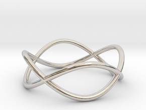 Size 8 Infinity Ring in Rhodium Plated Brass