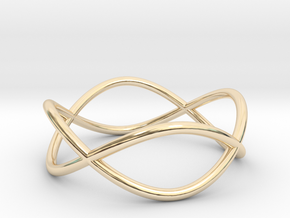 Size 10 Infinity Ring in 14k Gold Plated Brass