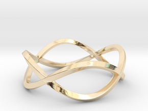 Size 6 Infinity Twist Ring in 14k Gold Plated Brass
