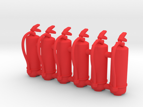 Fire Extinguisher 01. 1:24 scale in Red Processed Versatile Plastic