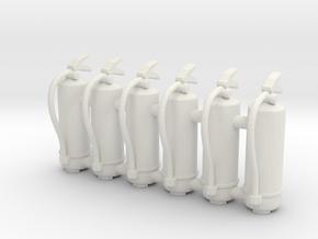 Fire Extinguisher 01. 1:24 scale in White Natural Versatile Plastic