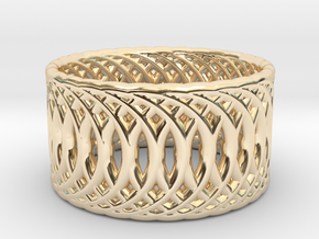 Ring of Rings V2 - 18.5mm Diam in 14k Gold Plated