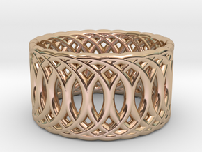 Ring of Rings V3 - 18.5mm Diam in 14k Rose Gold Plated