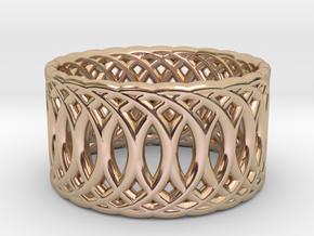 Ring of Rings V3 - 18.5mm Diam in 14k Rose Gold Plated Brass
