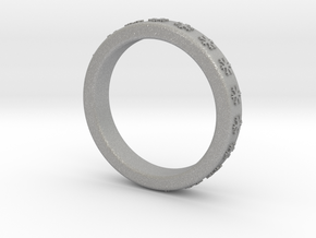 Ring With Snowflake Motif Ø18 mm/0.708 inch in Aluminum