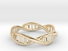 DNA Bracelet (Medium) in 14k Gold Plated Brass