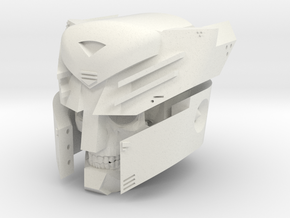 """Undead Autobot"" custom 1:6th scale head in White Natural Versatile Plastic"