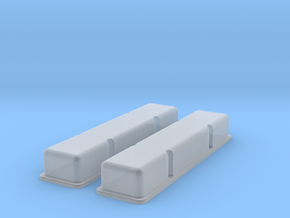 1/20 SBC Smooth Valve Covers in Smooth Fine Detail Plastic