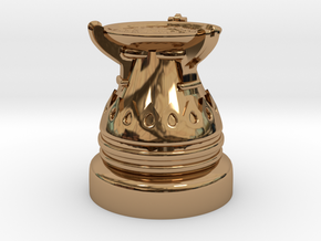 28mm Egyptian Cauldron  in Polished Brass