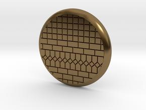 28mm Base - Tiled floor  in Polished Bronze