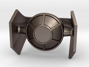 Imperial TIE Advanced x1 in Polished Bronzed Silver Steel: 7.5 / 55.5