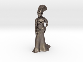 35mm Cleopatra in Polished Bronzed Silver Steel