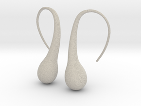 Bubble earring in Sandstone