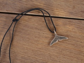 Whale Fluke Pendant in Polished Bronze Steel