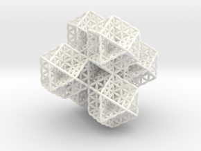 Spacetime Molecule in White Processed Versatile Plastic