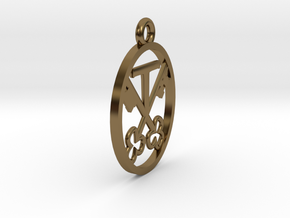 armorial bearings pendant in Polished Bronze