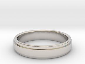 Ø0.666 inch/Ø16.92 mm Ring Model A in Rhodium Plated Brass