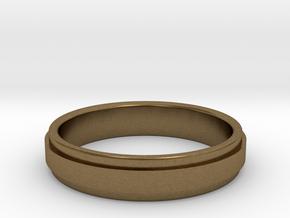 Ø0.666 inch/Ø16.92 mm Ring Model A in Natural Bronze
