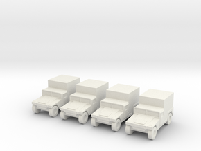 1/200 Humvee M1037 set of 4 in White Strong & Flexible