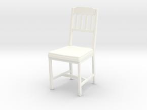 Chair 04. 1:24 Scale in White Processed Versatile Plastic