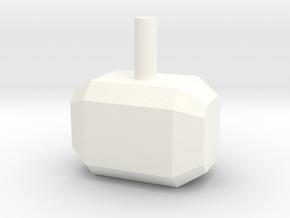 Cute Mjolnir in White Processed Versatile Plastic