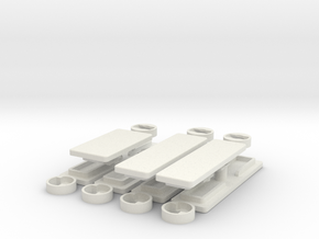 IIgs Port Covers - Complete Set in White Natural Versatile Plastic