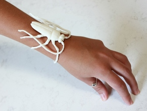 Insect Bracelet in White Natural Versatile Plastic